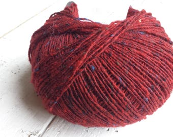 Debbie Bliss Fine Donegal red - red/brown 54007 Merino Wool and Cashmere