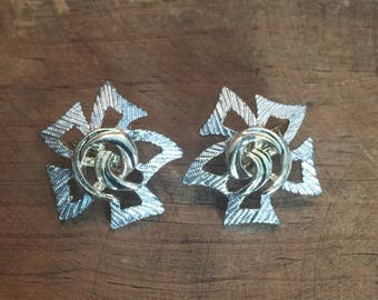 Vintage Sarah Coventry Gold Tone and Silver Tone Clip Earrings