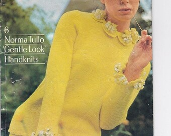 ON SALE Paton's Knitting Pattern No 750  Womens in Paton's, Totem, Bluebell and Mohair (Vintage 1970s)