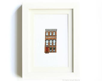 New York Architecture Print No. 9 - NYC Art, Architecture Print