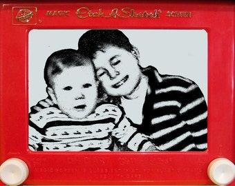 Custom Etch A Sketch using your very own pictures