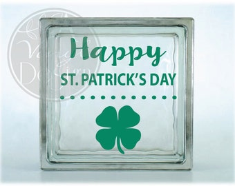 Happy St. Patrick's Day | Dots & Clover | Vinyl Decal