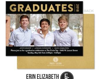 Group grad invite etsy graduates 2018 graduation group party invitation 5x7 custom group grad party invite with envelopes filmwisefo