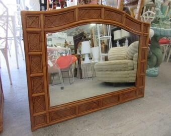 Woven Bamboo Island Mirror