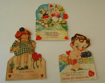large stand up mechanical Valentines lot 3