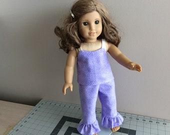 American Girl Pajamas. 18 inch Doll Pajamas. AG Nightwear. Doll Pajamas Sleepwear. Doll Sleepwear