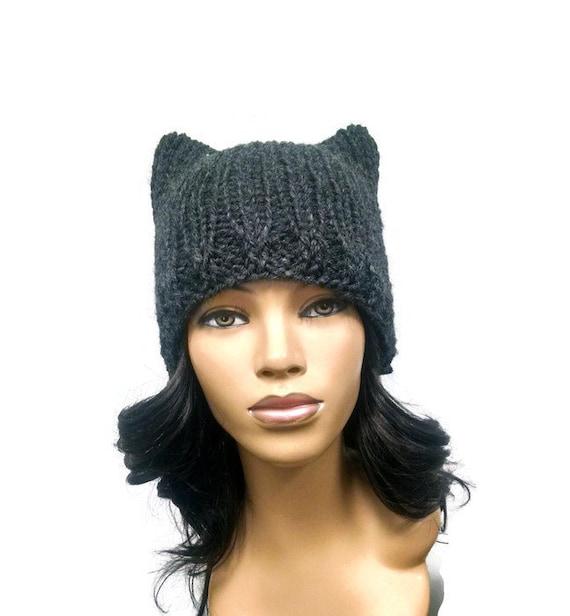 Cat Ear Hat Knitting Pattern Easy