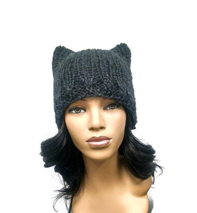 Instant Download Loom Knitting Pattern Easy Cat Hat Cat Ears