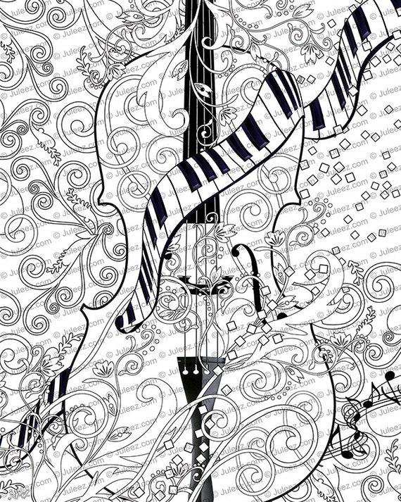 Erwachsenen Färbung Seite druckbare Erwachsenen Violine