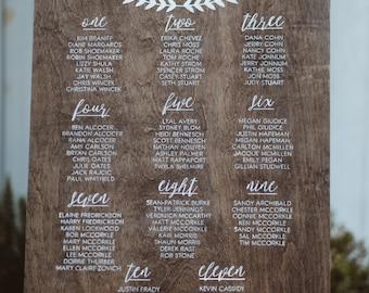 Wedding Seating Chart - Wedding Seating - Seating Plan - Seating Chart - Find Your Seat - Rustic Wedding - Vintage Wedding
