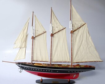 "Handcrafted Atlantic Model Boat 32"""