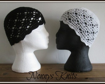 Crochet Cotton Cloches Hat,  In stock and ready to post