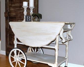Refinished Serving Tea Cart