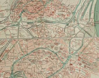 Strasbourg map print Etsy