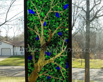 Stained Glass Mosaic - Green Canopy