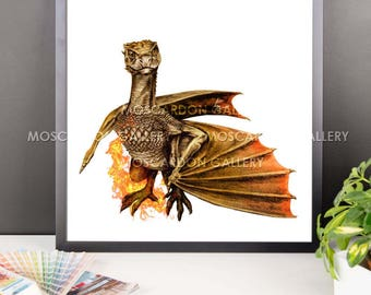 Viserion (Game of Thrones) Framed Art