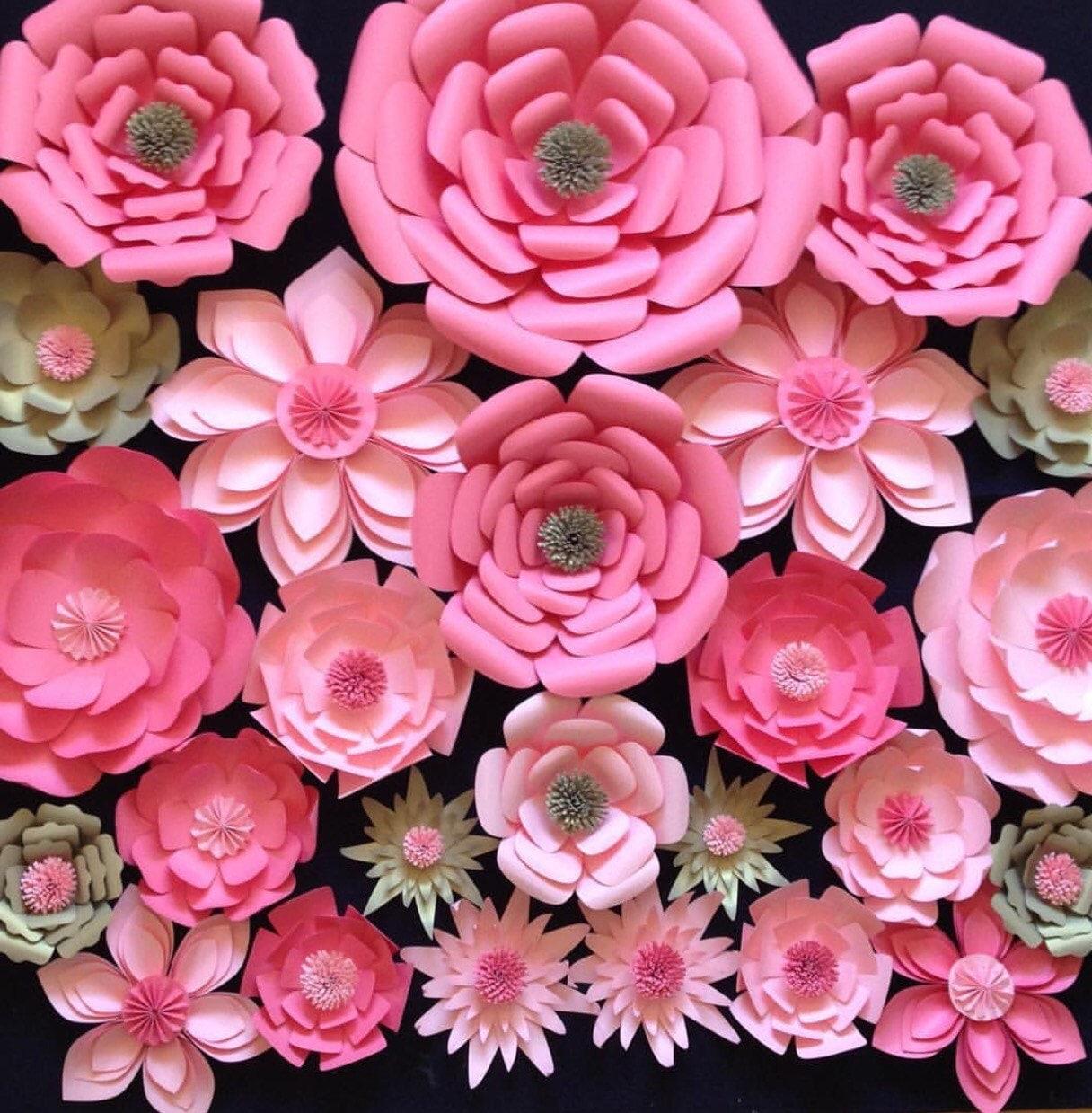 Paper Flower Photobooth Backdrop Geccetackletarts