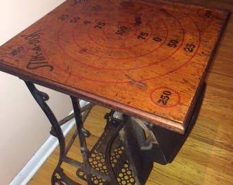 Vintage Sewing Machine Side Table