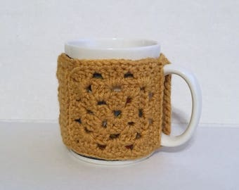 Crochet Granny Square Coffee Mug Cozy. Coffee cozy, Mug Hugger,