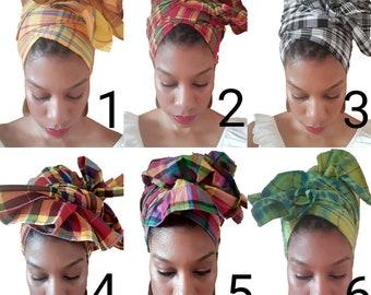 Creole Wrap  Caribbean Head Wrap African Head Wrap Kente Head Wrap African Head Scarf Head Band Yoga Scarf Ankara Head Tie Hijab