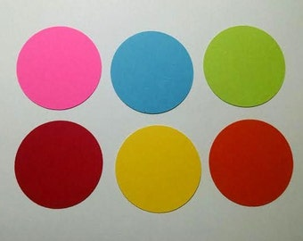 24 cardstock circles 3 inches - choice of color