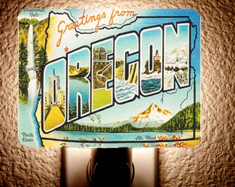 Vintage Oregon Night Light