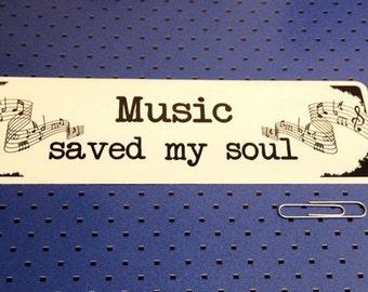 Music Saved My Soul Bumper Sticker