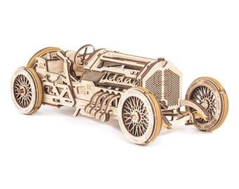 Mechanical 3D puzzle Sportcar U-9 Grand Prix