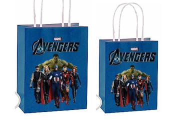 Shipping is now available Avengers party favor bags ~Avengers birthday party Decorations & Decor instant download