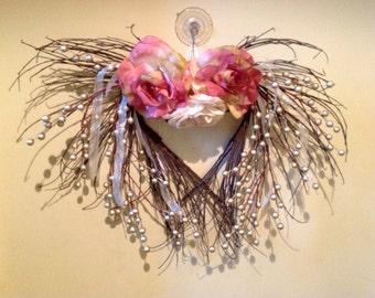 Vintage heart wreath