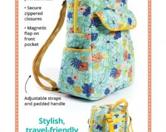 Got Your Back Backpack Puse by Annie  - Paper Printed Pattern