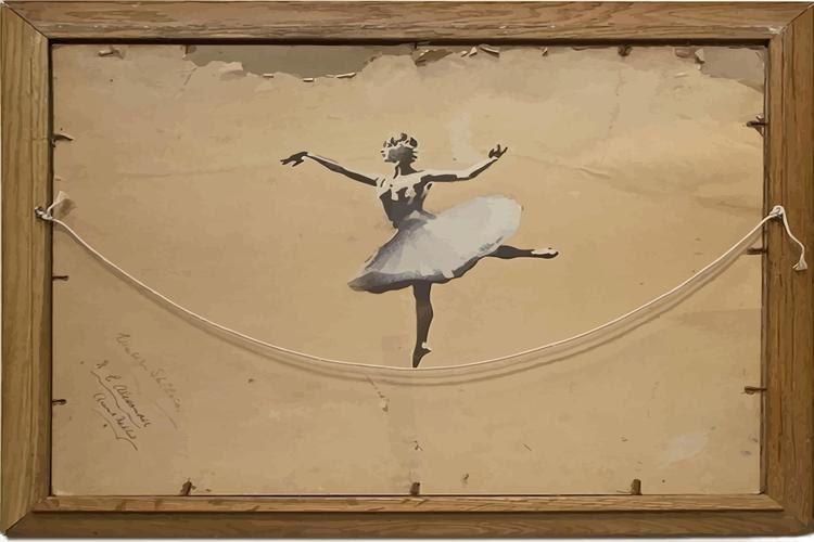 BANKSY Canvas Ballerina Banksy Graffiti Art Print Gallery