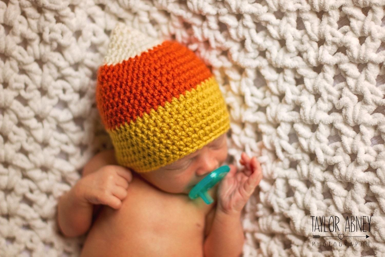 Häkeln Sie Candy Corn Hut Candy Corn Hut Halloween-Hut Hut
