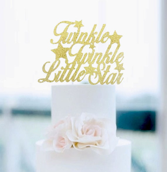 Https Www Etsy Com Listing  Twinkle Twinkle Little Star Cake Topper