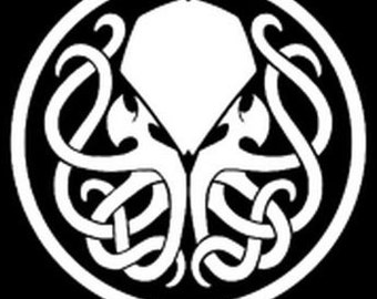 Cthulhu inspired decal