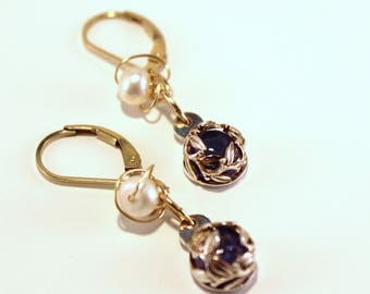 Silver Earrings with Tanzanite
