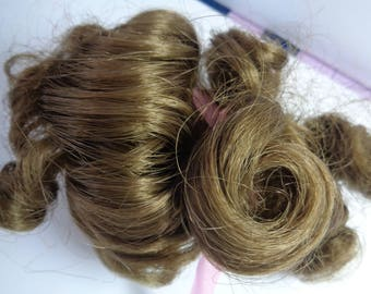 Medium Brown Doll Wig- 5 Inch Doll Wig-  NEW old stock- Vintage doll wig