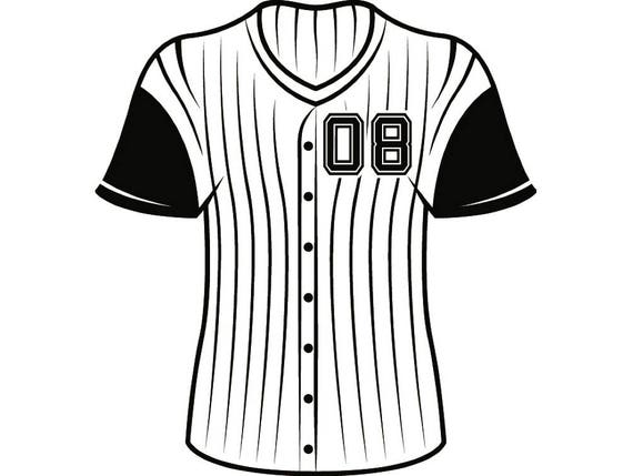baseball jersey 2 uniform ball sports league equipment team game rh etsystudio com blank baseball jersey clipart baseball jersey clip art images