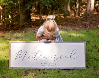 Family Name Sign | Last Name Sign | Family Name Sign Wood |  Last Name Sign Wood