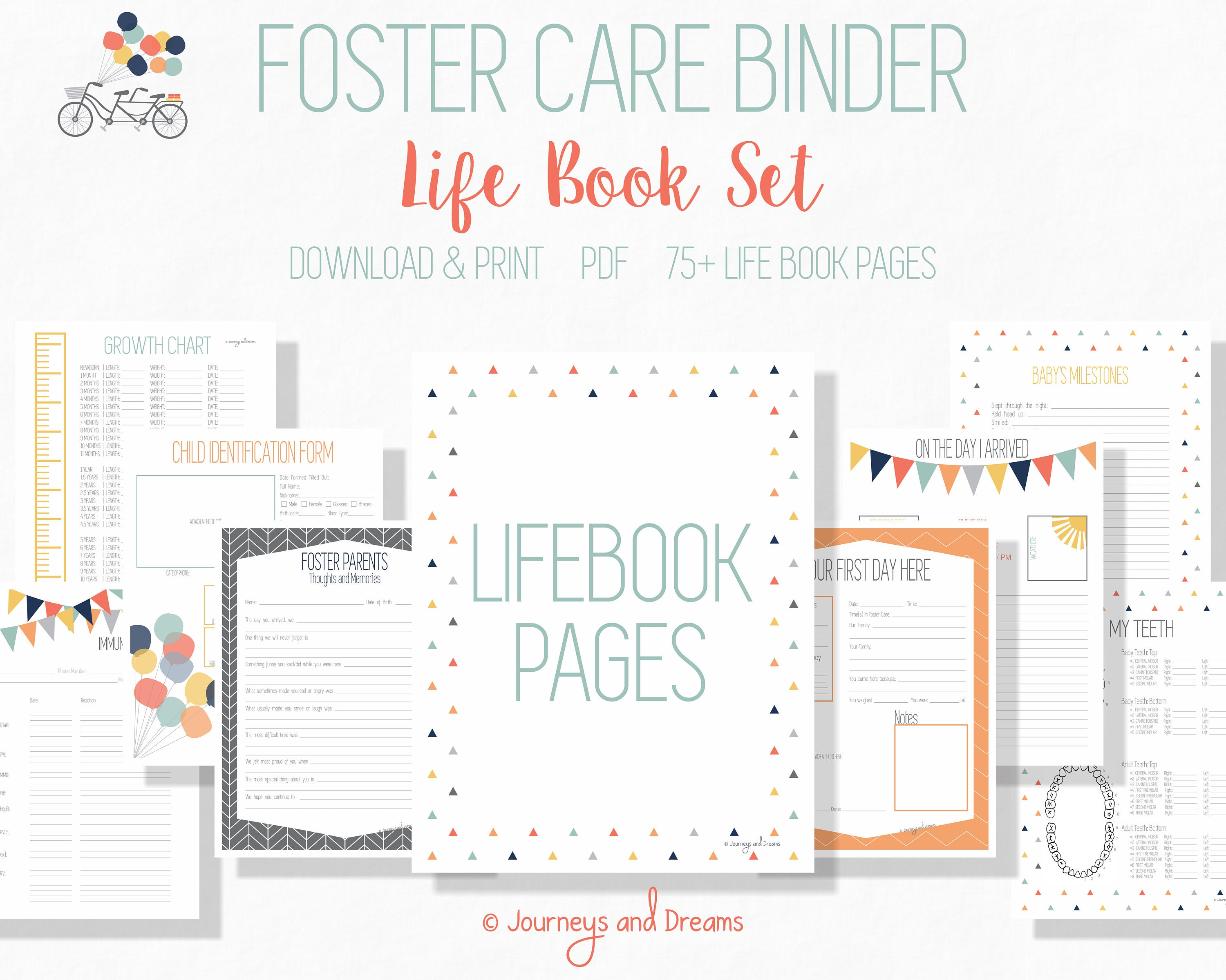 Foster care adoption life book 75 pages 85x11 zoom nvjuhfo Images