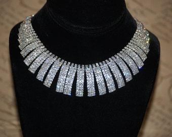 Swarovski elements crystal  set necklace & Earrings