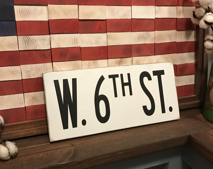 White Street Sign / Customized Fixer-Upper Rustic White Street Sign / Wood Street Number Sign / Antique Road Sign / Modern Farmhouse Sign
