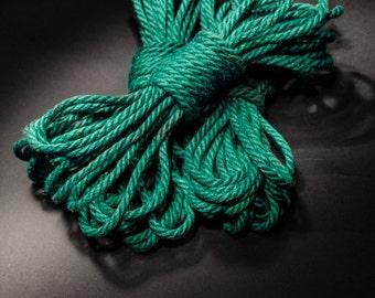 Jute Rope Kit for Shibari / Kinbaku - Seafoam/Aquamarine