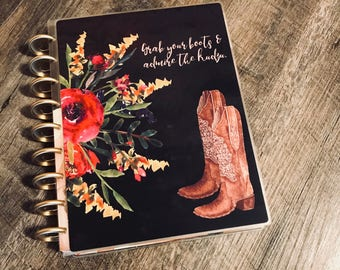 Country Planner COVER, Boot Planner Cover, Southern Girl Planner, Laminated Covers, Discbound Covers, Happy Planner, Mambi Covers