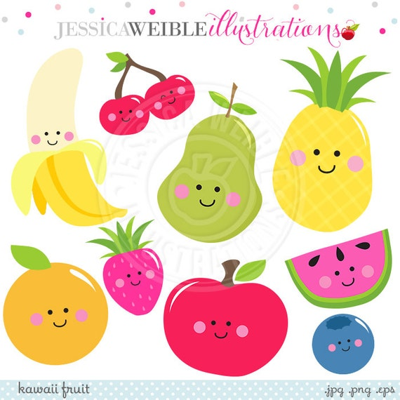 kawaii fruit cute digital clipart cute fruit clip art fruit clip art for coloring fruit clipart black and white