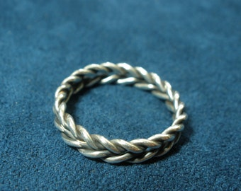 Sterling Silver Thin Double Braid Ring