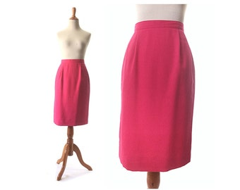 pink skirt,  xs vintage pink skirt, Pencil Skirt, small pink skirt, hot pink skirt,   High waist skirt, pink vintage skirt, extra small