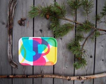 Birch Wood Breakfast Tray in Multicolour