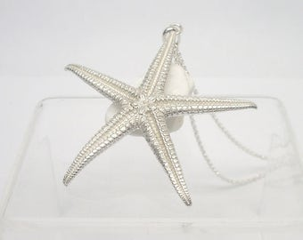 Starfish Pendant - Sterling Silver