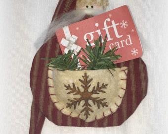 Gift Card Holder - Set of 2 | Santa Gift Wrap | Christmas Ornament | Christmas gift card holder